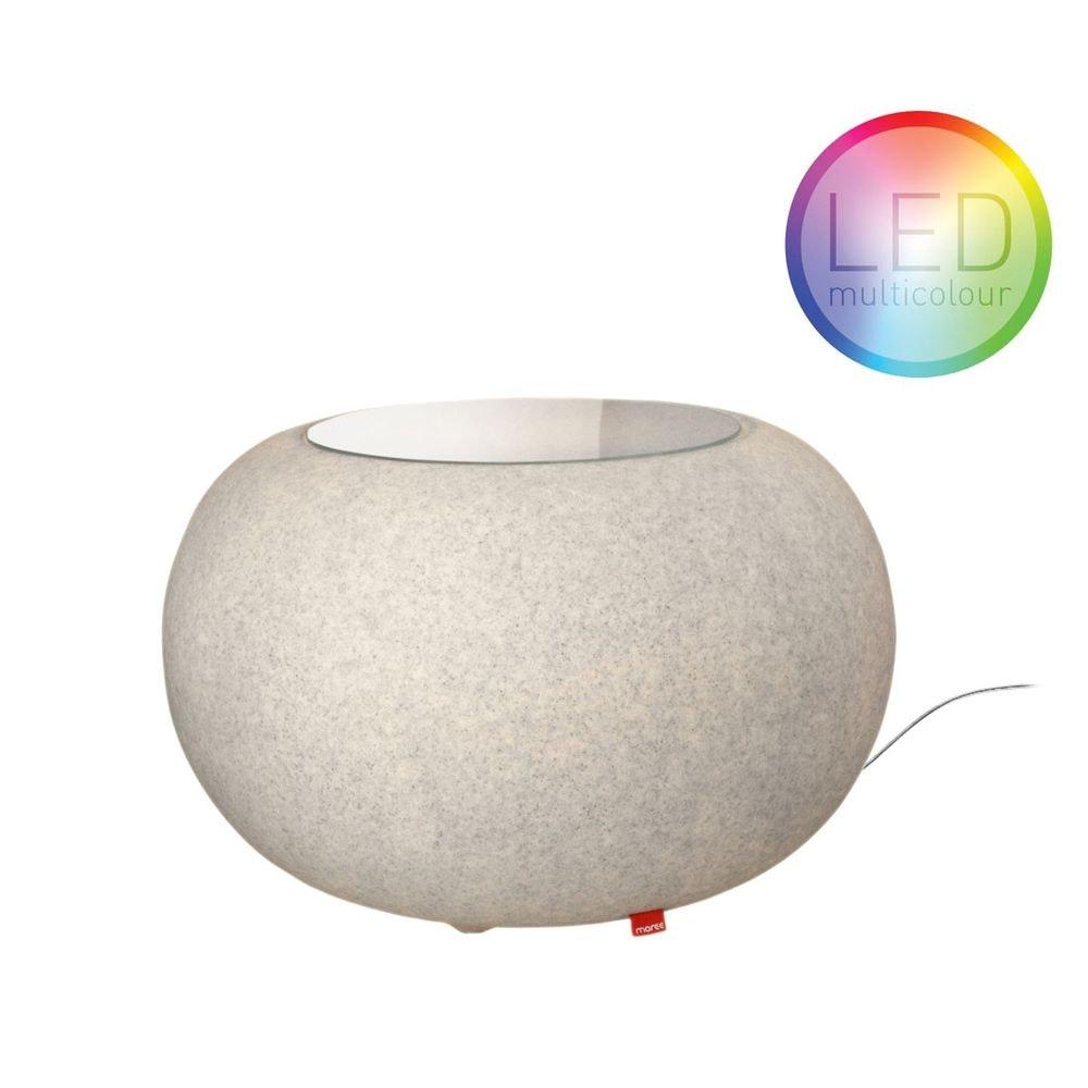 Moree Granit Bubble LED Tisch oder Hocker
