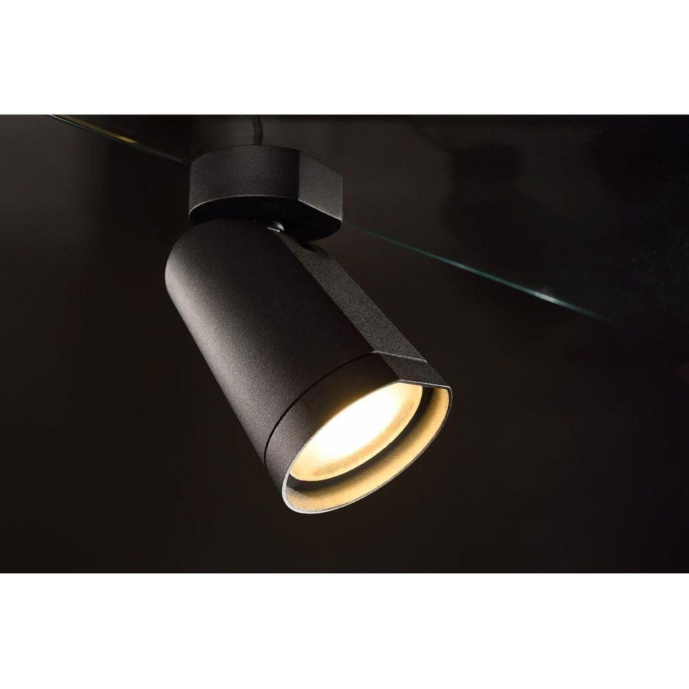 SLV BILAS Spot Single 25° LED rund matt Schwarz 15W 2700K mit Rosette 3