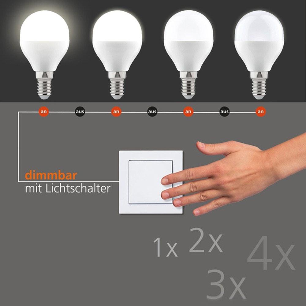 E14 LED Switchmo Dimmbar Warmweiß 250lm 3,5W
