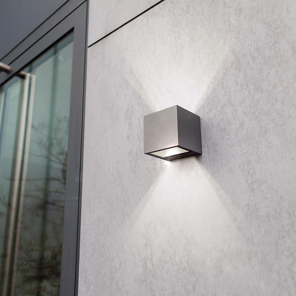 LED Außen-Wandlampe Gemini IP44 Anthrazit