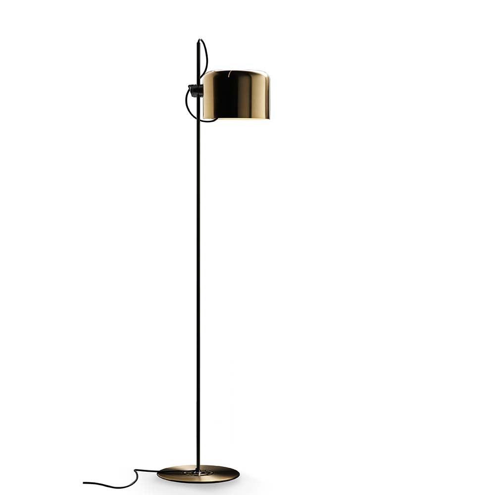 Oluce stilsichere Stehlampe Coupe 140cm Schwarz, Goldfarben