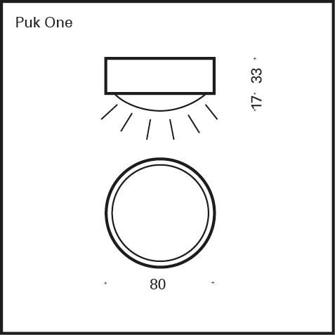 Top Light LED Decken & Wandlampe Puk One 7