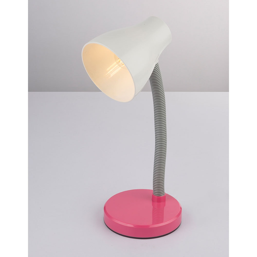 LED Tischleuchte Flynn Flexo Pink, Weiß 6
