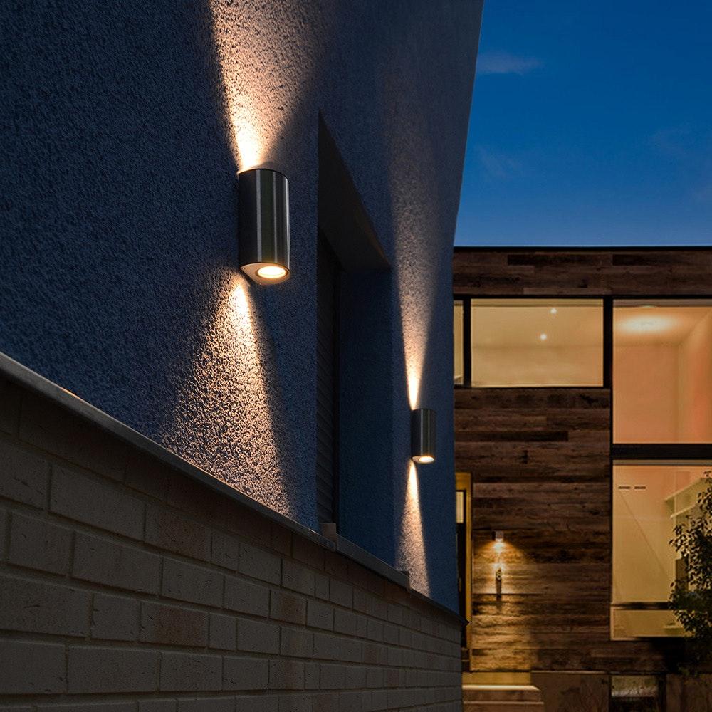 LED Außenwandleuchte Ilumi IP44 Edelstahl 3