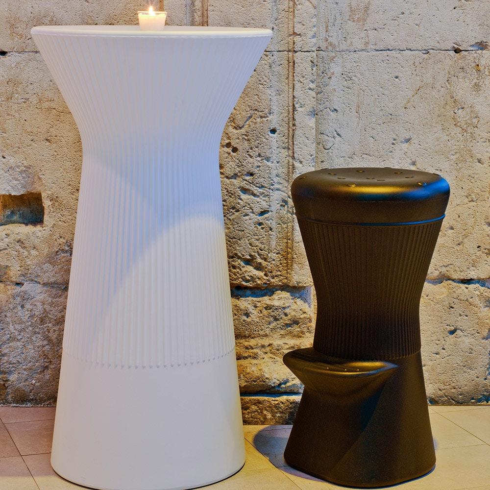Licht-Trend LED beleuchteter Hochtisch Capri 110cm mit Fernbedienung  4