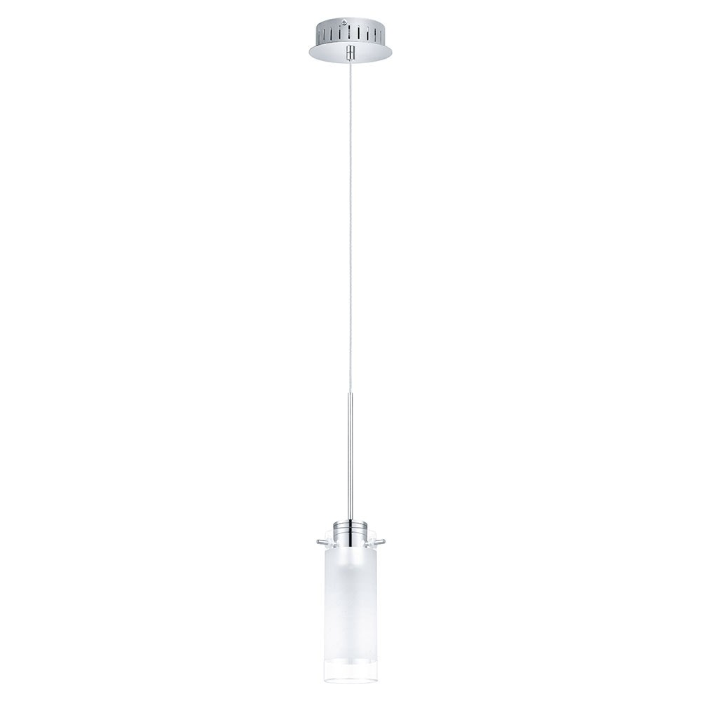 Aggius 1 LED Hängeleuchte Ø 13cm Weiß, Klar, Chrom