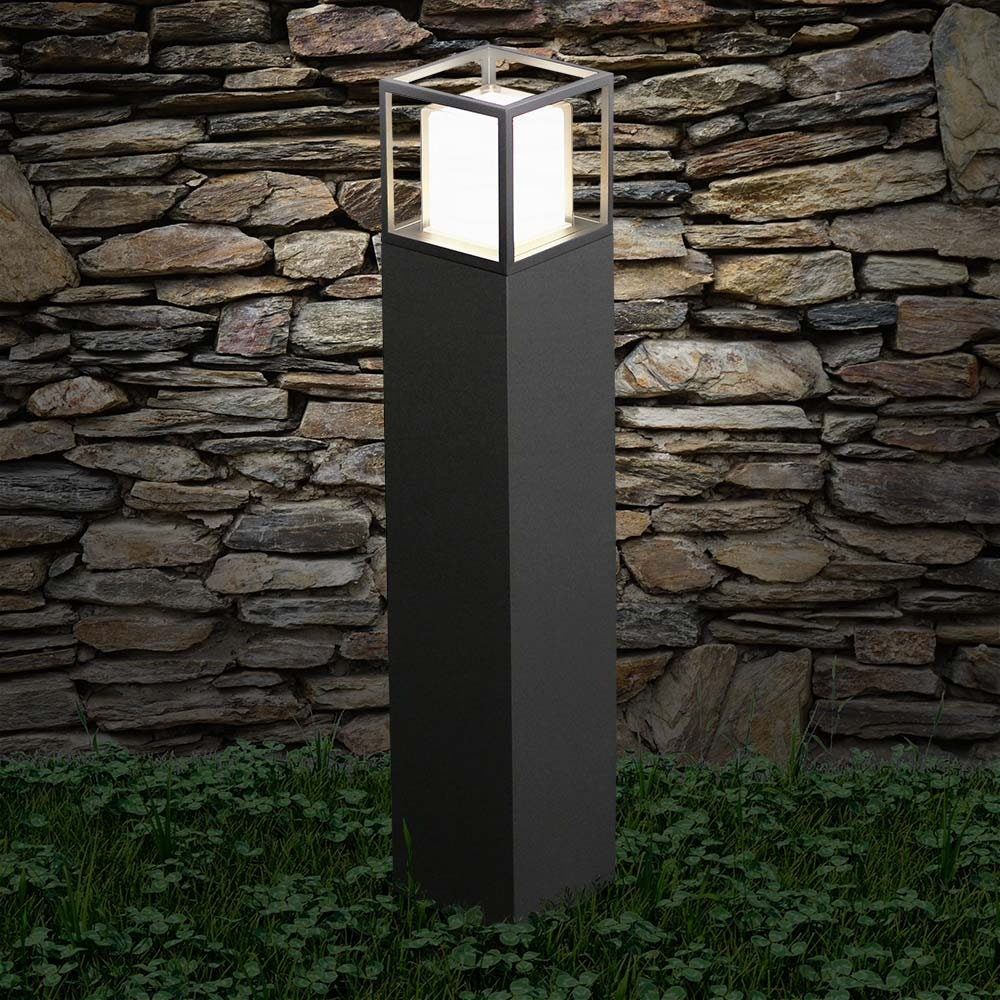 Licht-Trend LED Pollerlampe Quadro T 90cm IP54 Anthrazit thumbnail 4