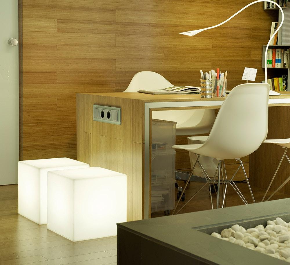 Licht-Trend Cuby LED-Dekoleuchte mit Akku und Solar 7