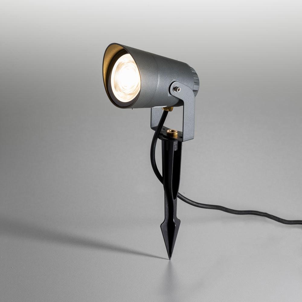 Spit LED-Außenstrahler mit Spieß 35cm 850lm Anthrazit warmweiss 230V IP54