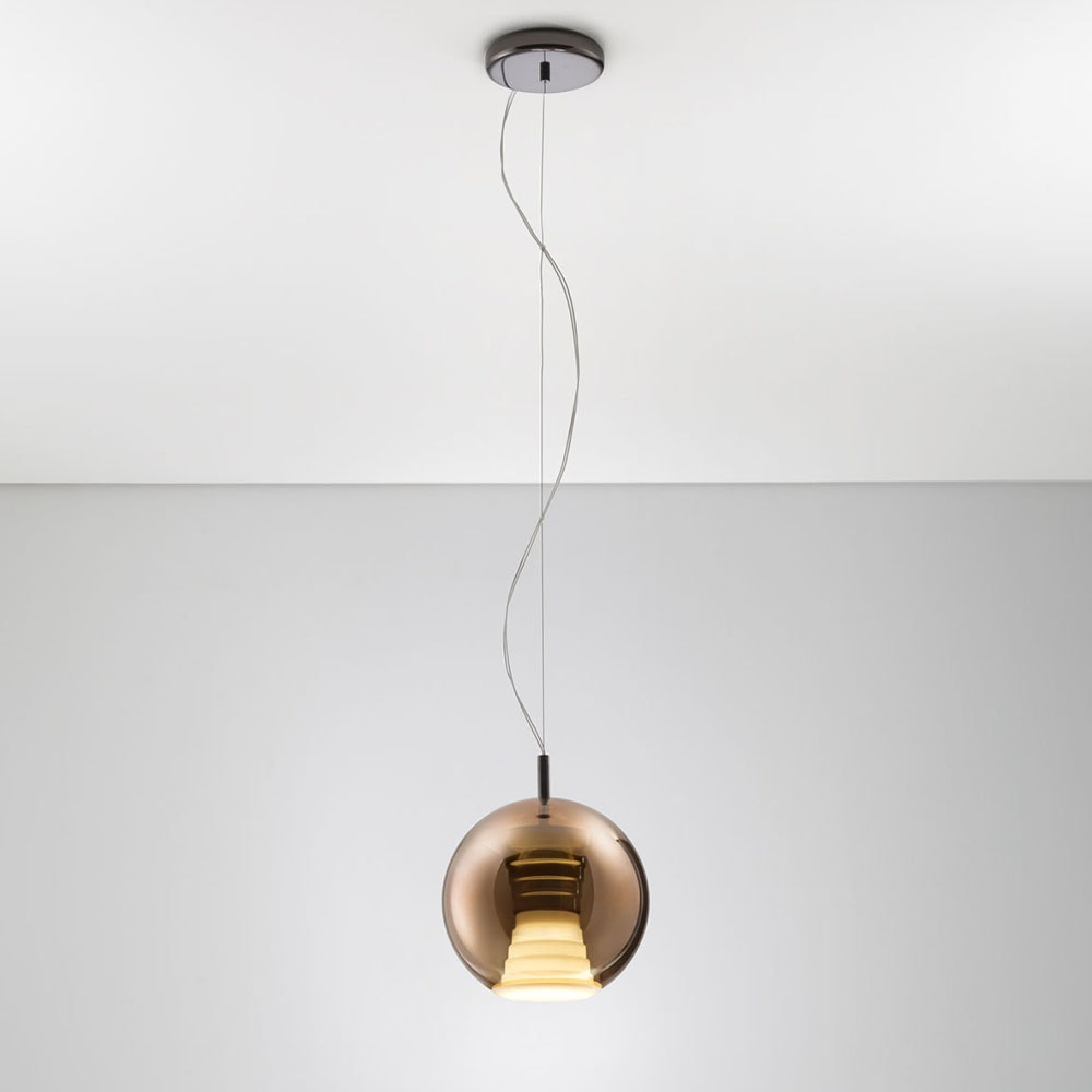 Fabbian Beluga Royal LED-Pendelleuchte Ø20cm 1