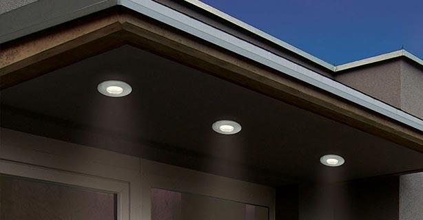 Deckeneinbaulampen Außen