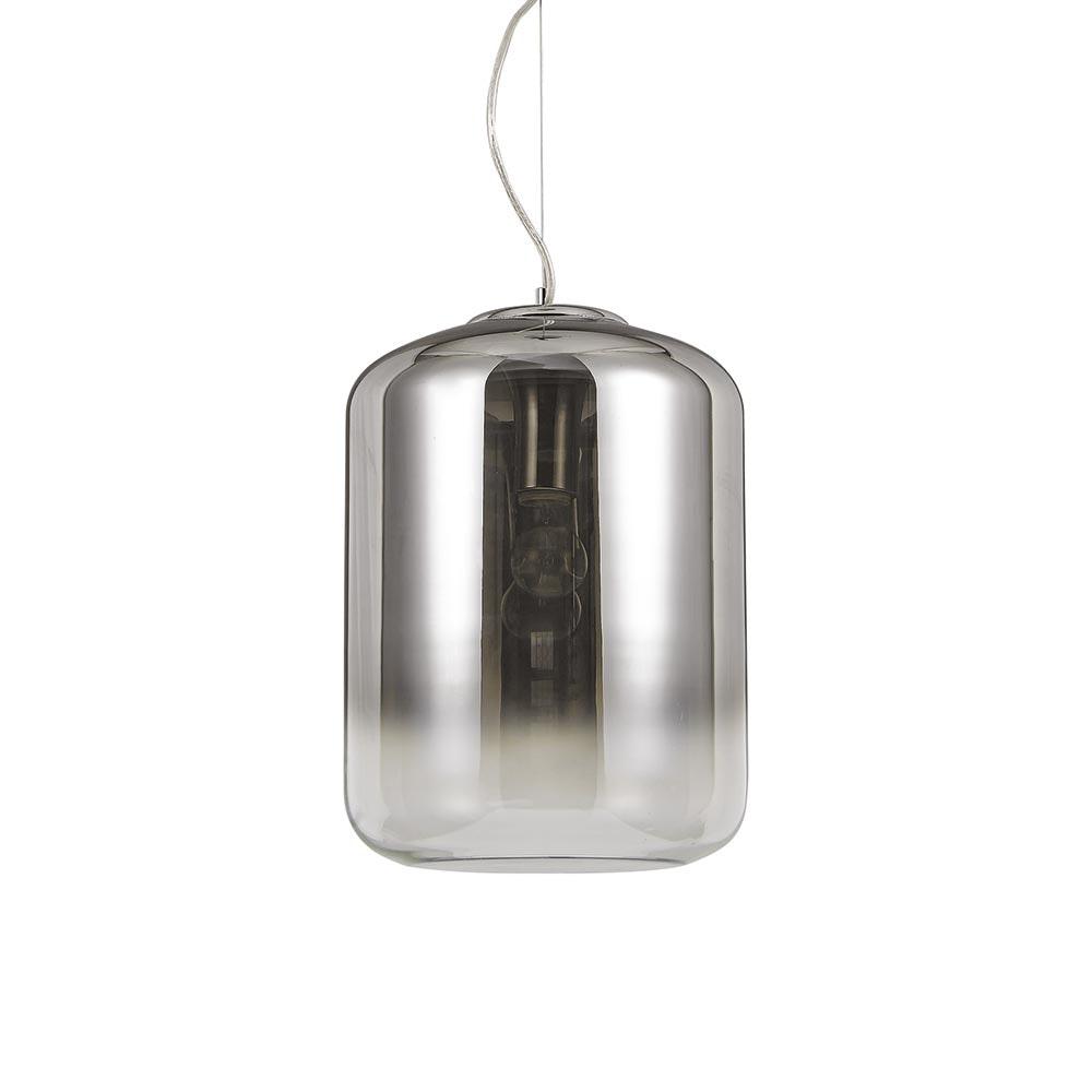 Ken Pendelleuchte verspiegelter Glaszylinder 50cm 2