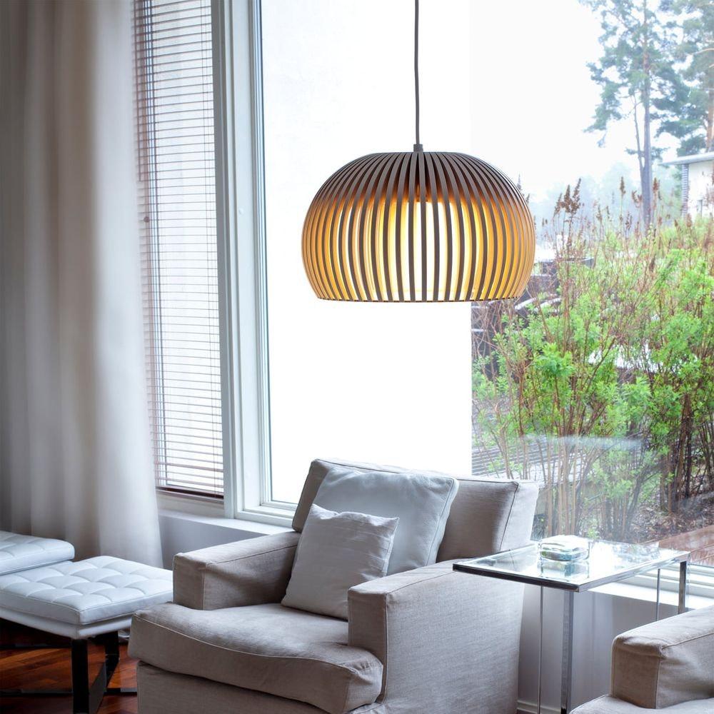 LED Pendelleuchte Atto 5000 aus Holz Ø 34cm 10