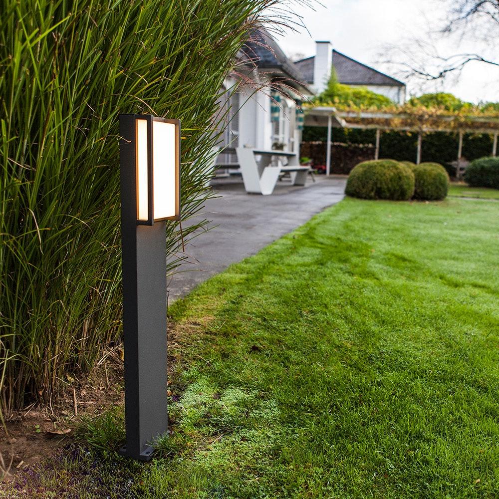 LED Wegeleuchte Qubo IP54 75cm Anthrazit 1