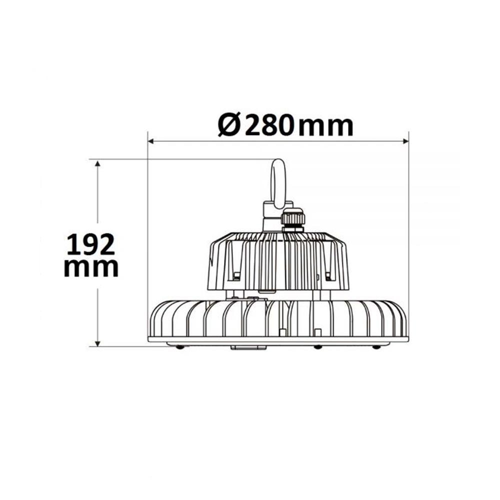 LED Hallenstrahler 200W 28000lm 90° IP65 1-10V dimmbar Neutralweiß 2