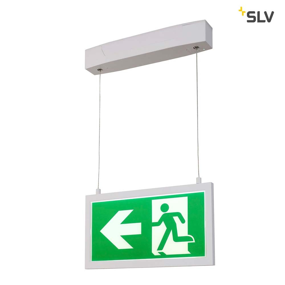 SLV P-Light Emergency Series Exit Sign Big Pendant Weiß 6