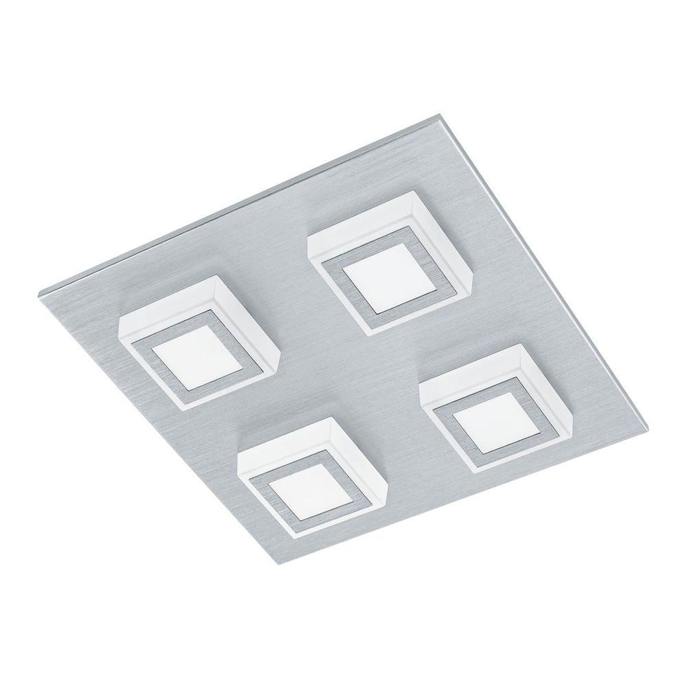 Masiano LED Wand- & Deckenleuchte 4x 33W Alu-Gebürstet
