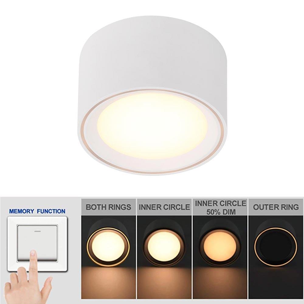 LED Aufbauleuchte Moodmaker S dimmbar Weiß