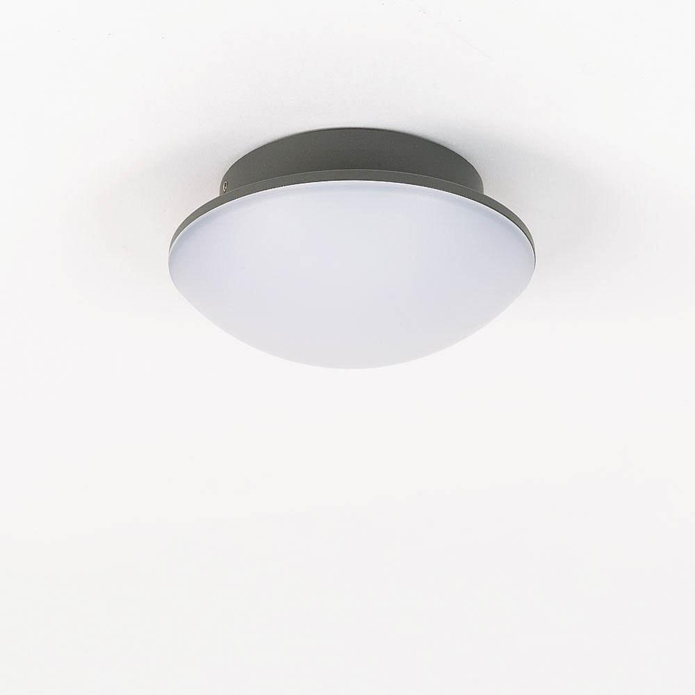 LED Außenwand- & Deckenleuchte Mini IP54 Ø 14cm Anthrazit 8