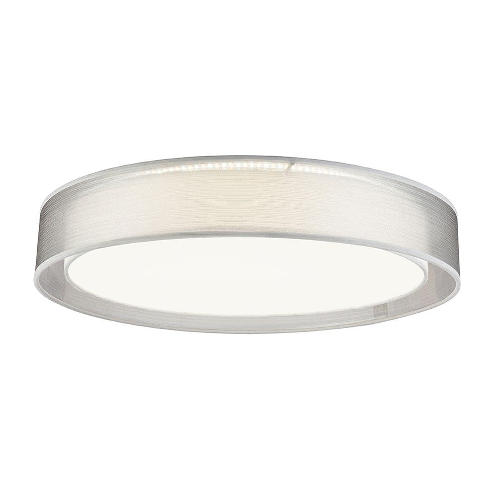 LED Deckenleuchte Theo CCT 3000-6000K Höhe Schirm 10cm Nickel-Matt, Grau, Satiniert 5