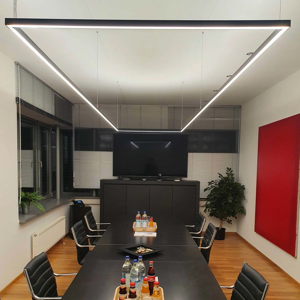 Aufbauprofil tief 200cm Schwarz ohne Abdeckung für LED-Strips 4