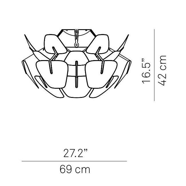 Luceplan Deckenleuchte Hope Ø 69cm transparent thumbnail 4