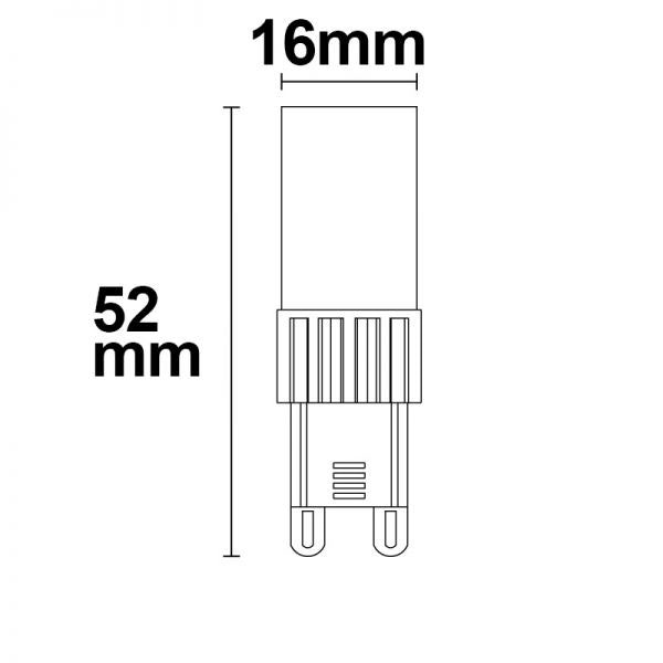 G9 LED 5W Warmweiß Dimmbar 4