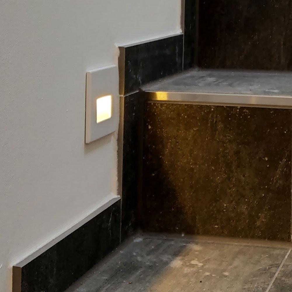 s.LUCE LED-Wandeinbauleuchte Box 230V Weiß