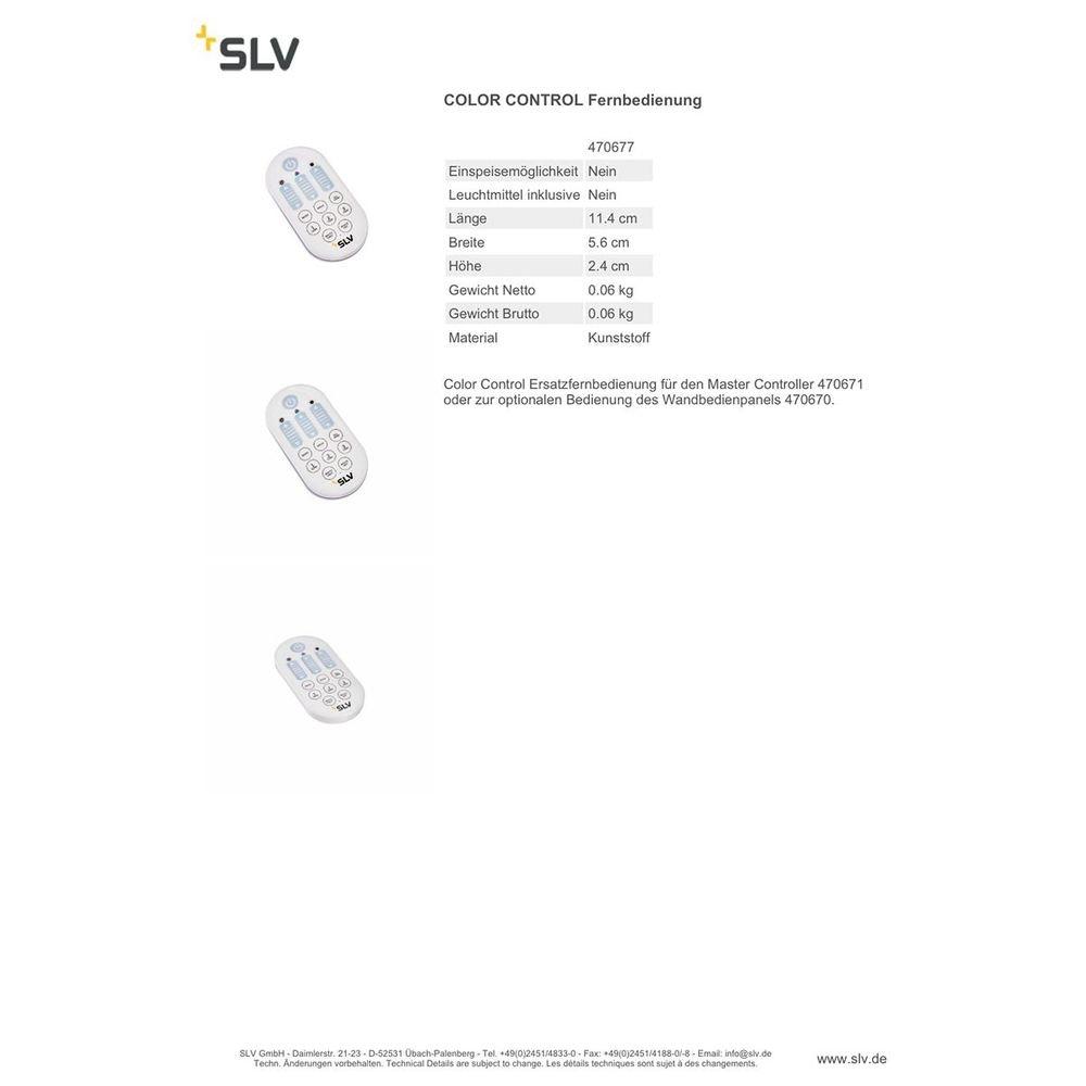 SLV Color Control EASY LIM WIFI RGBW RF Remote Control 2