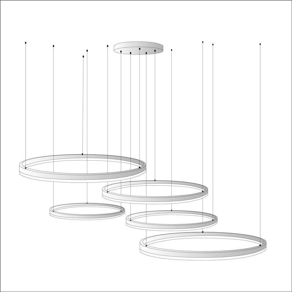 s.LUCE Ring Umbau zentrisch / exzentrisch (ohne LED-Ringe) 11
