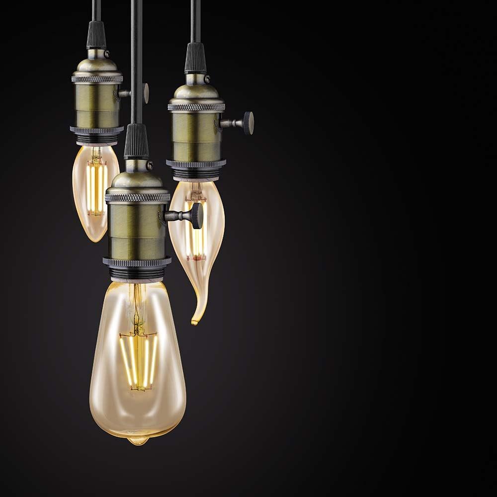 E14 LED Vintage Kerze 4W, 220lm Extra Warmweiß 2