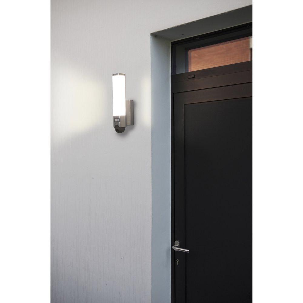 LED Kameraleuchte Elara mit Bewegungsmelder IP44 Edelstahl thumbnail 3