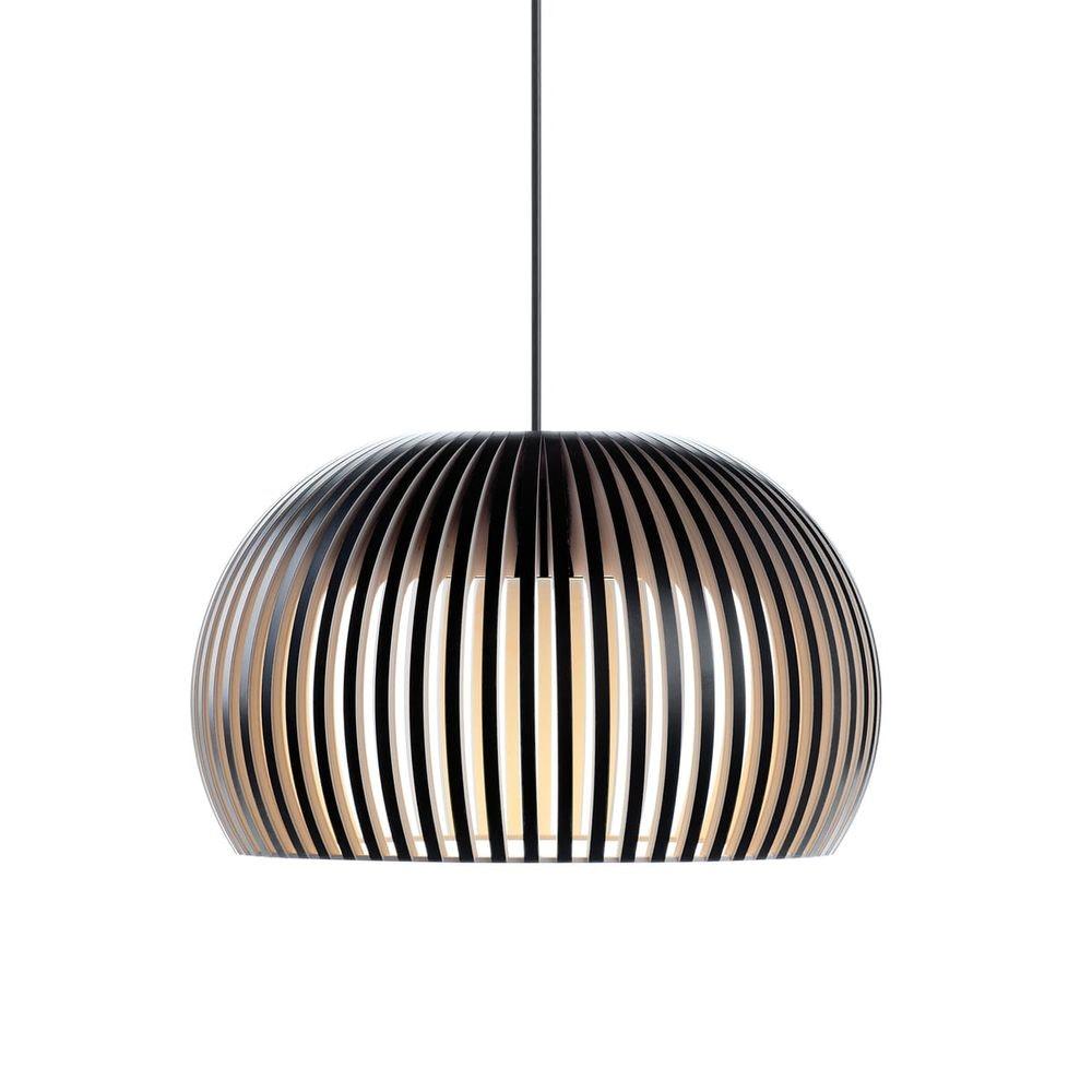LED Pendelleuchte Atto 5000 aus Holz Ø 34cm 7
