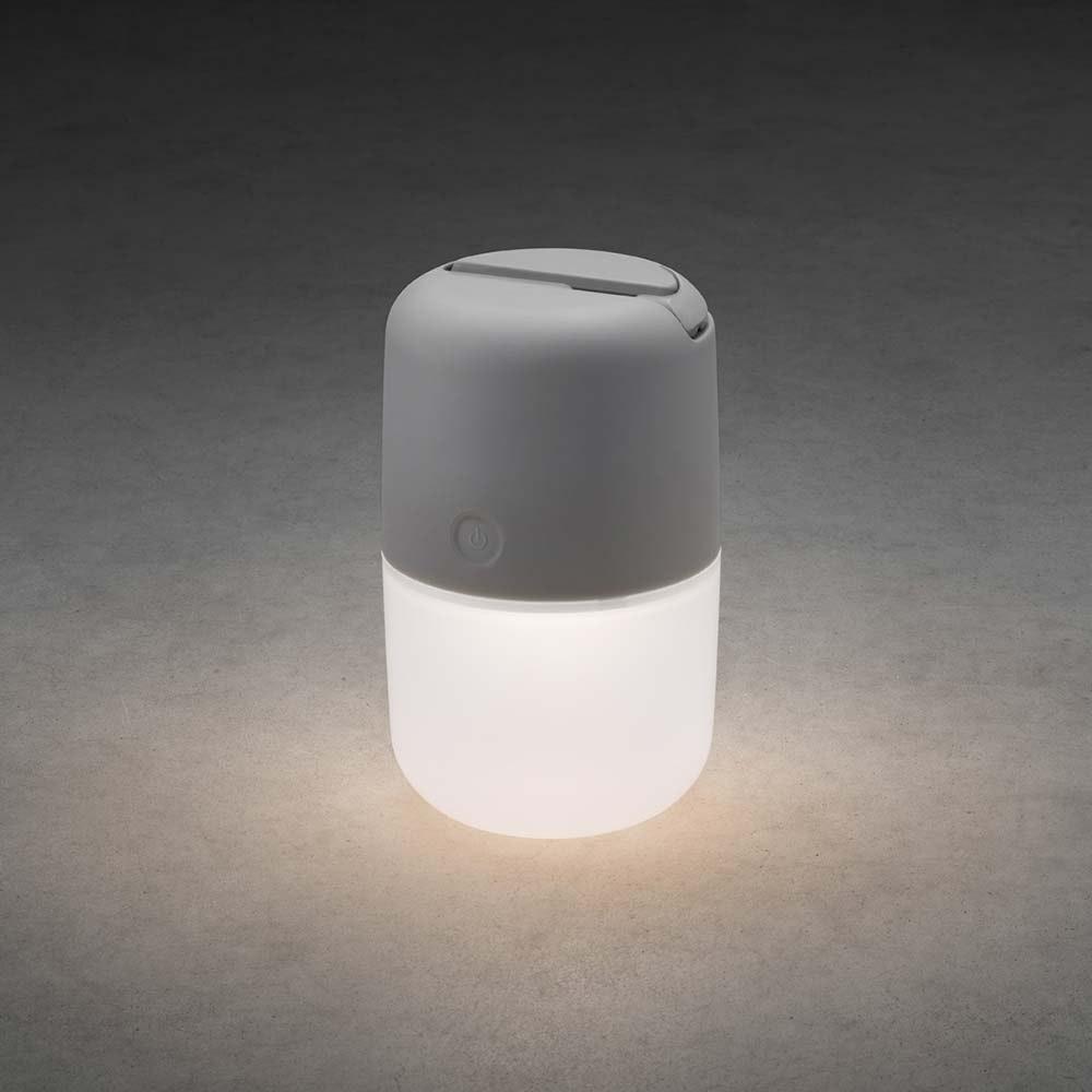 LED Solarleuchte Assisi zum Hängen oder Hinstellen Grau 2