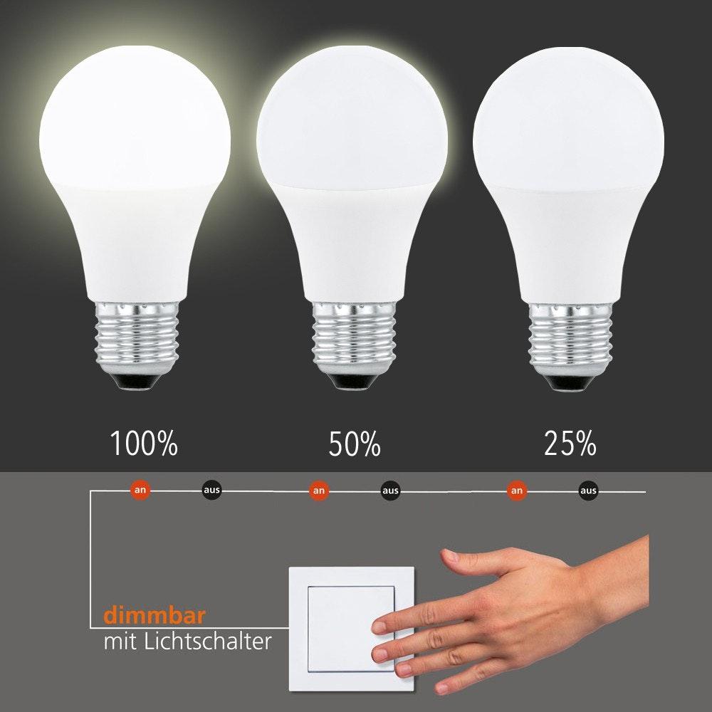 E27 LED Dimmbar per Schalter Warmweiß 800lm , 10W 1