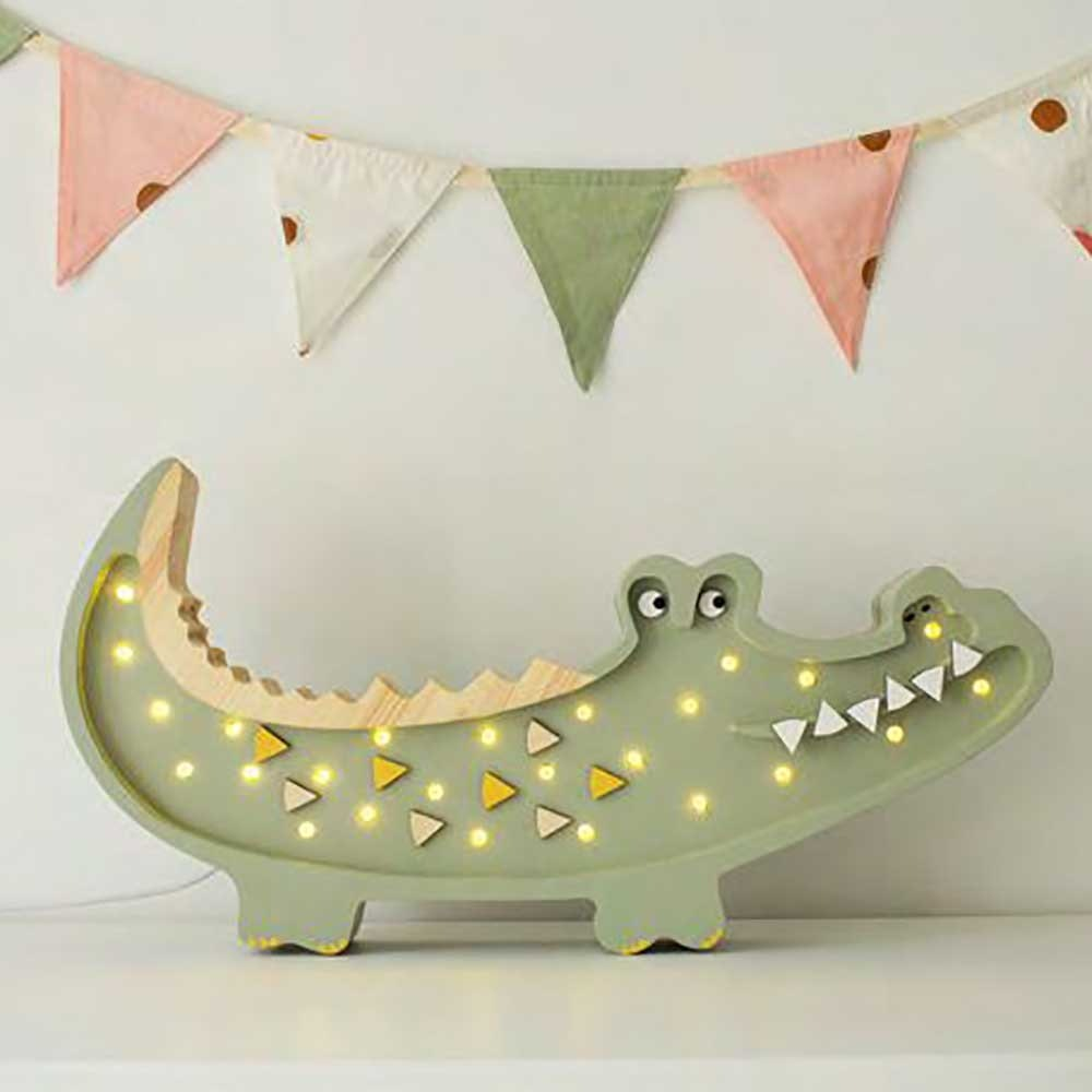Little Lights Kinder Wand- & Tischleuchte Krokodil  4
