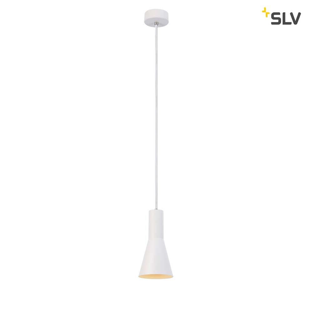 SLV Phelia Pendelleuchte E27 Weiß 13cm