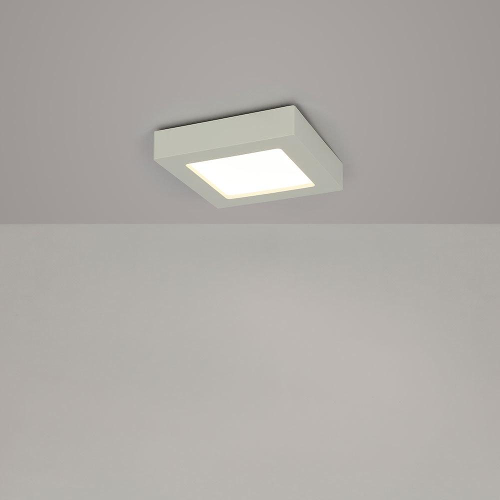 LED Deckenleuchte Svenja Weiß, Opal 9