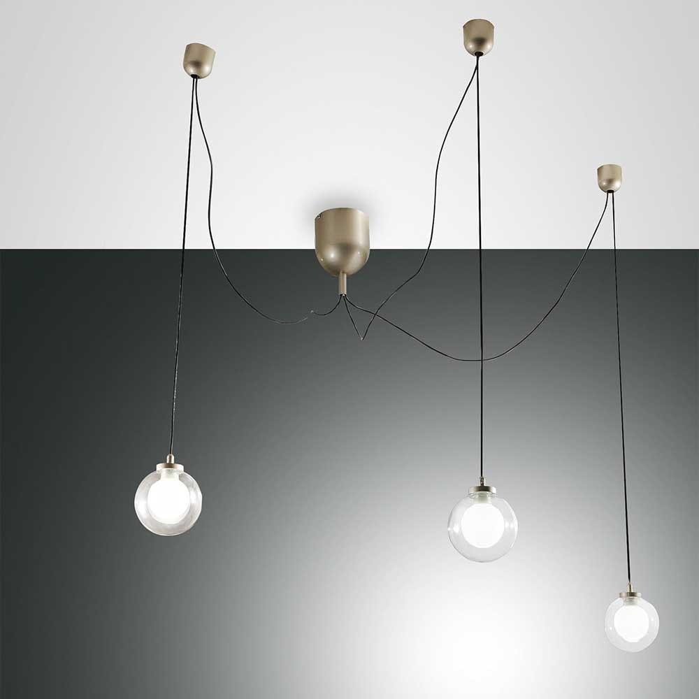 Fabas Luce LED Pendellampe Blog aus Metall 2