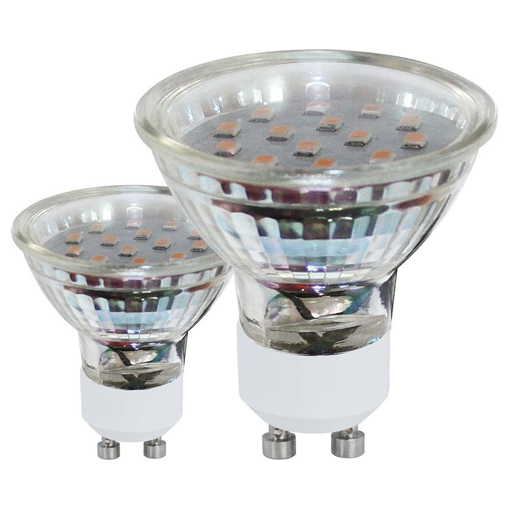 GU10 SMD LED 3W 3000K 2er-Set