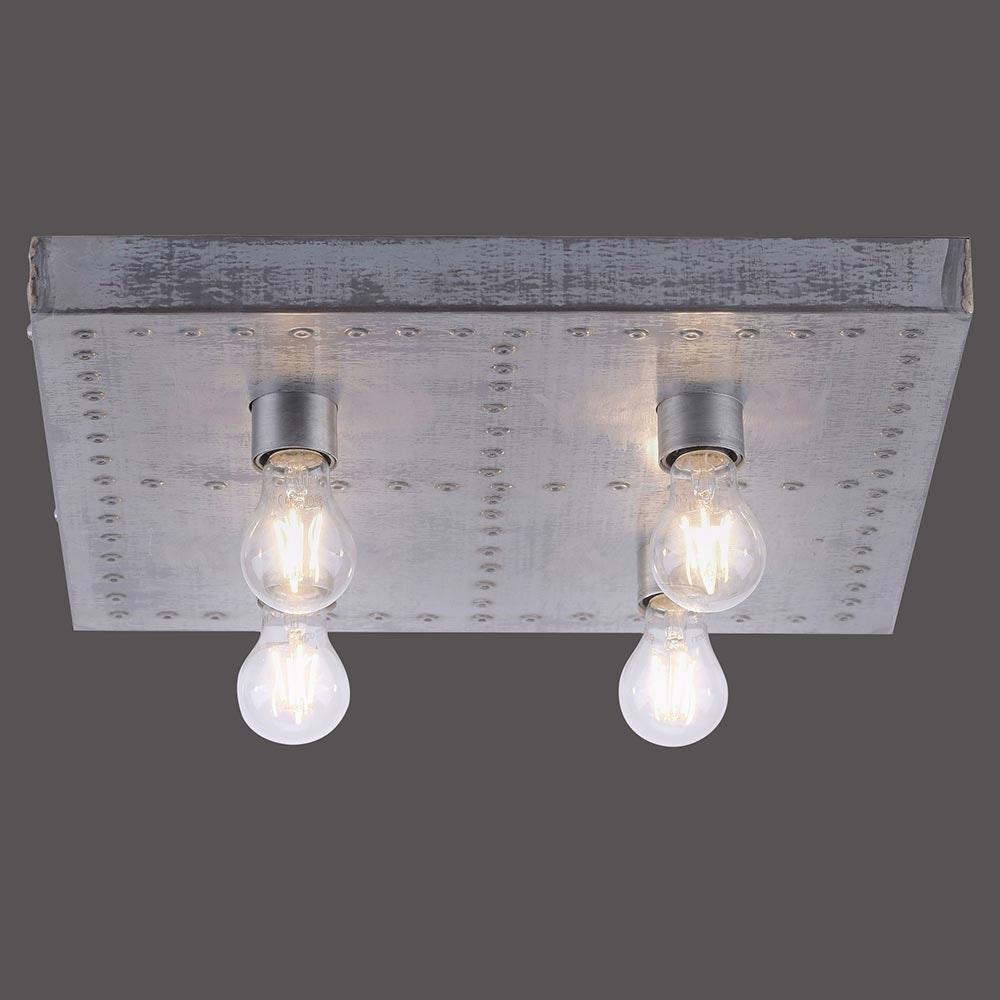 Deckenlampe Samia Vintagestil 4-flg. Eisen 4