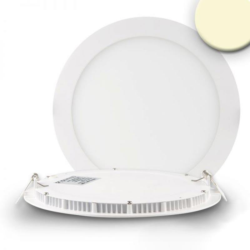 LED Einbaupanel Ø 22,5cm flach rund weiss dimmbar 18W warmweiss 1