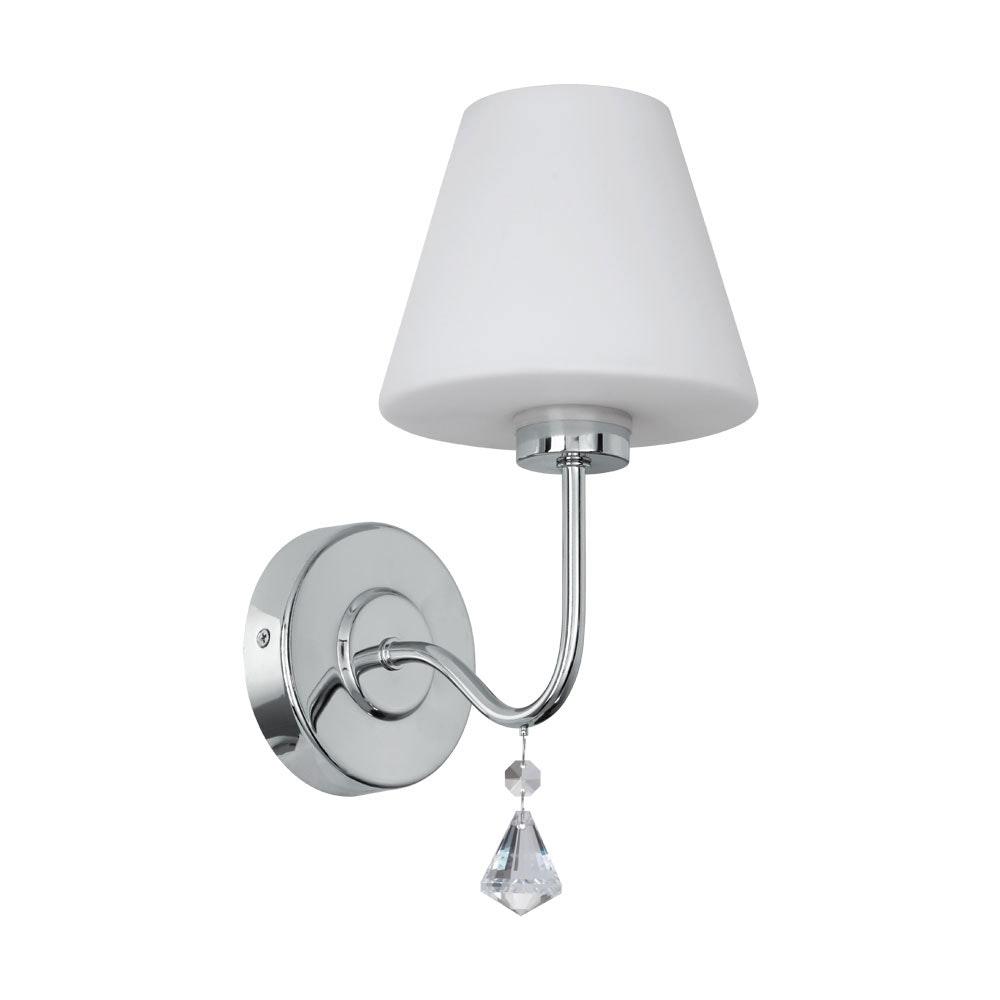 LED Kristall Wandleuchte Loretto IP44 Chrom, Weiß, Klar