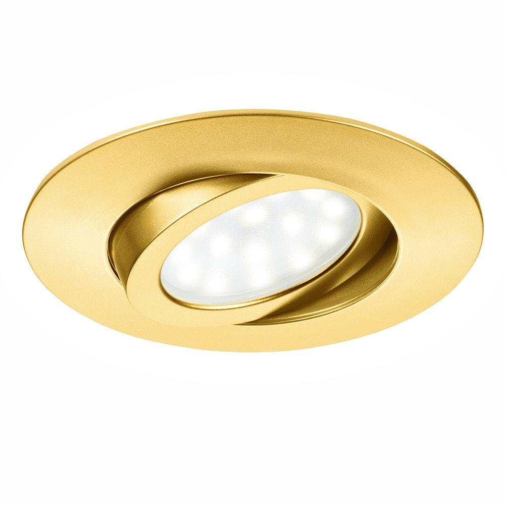 LED Einbauleuchte Movibile IP44 Goldfarben 2