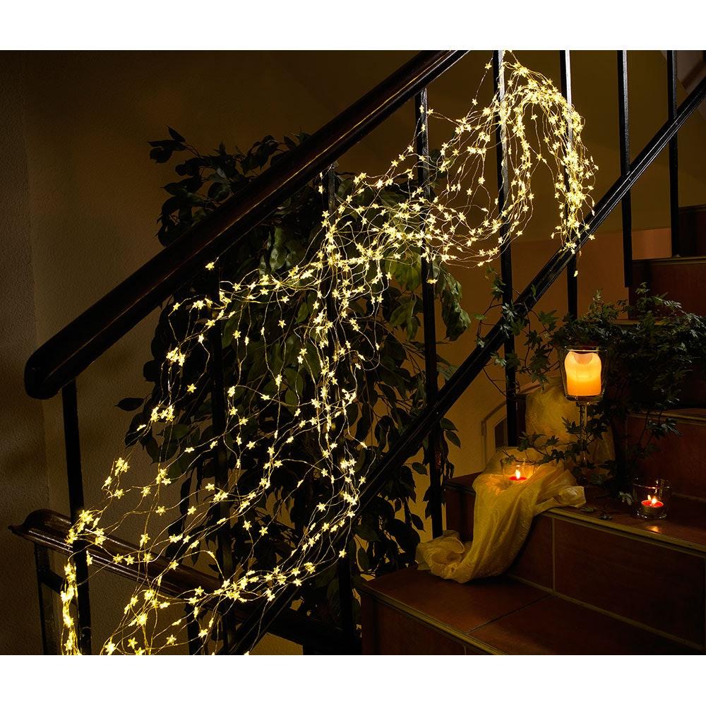 LED Sternenlametta 26 Stränge mit 27 Dioden 702 Warmweiße Dioden 4