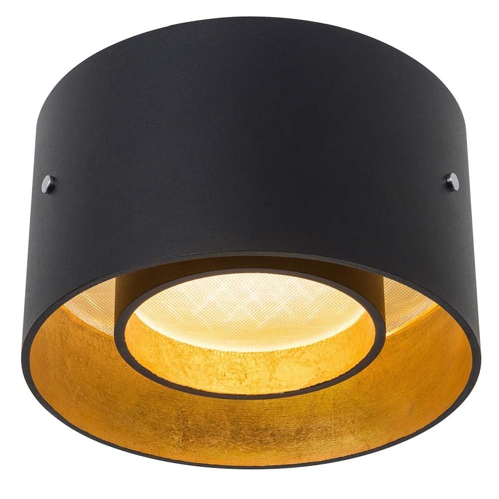Oligo minimalistische LED Deckenleuchte Trofeo Schwarz, Goldfarben 2