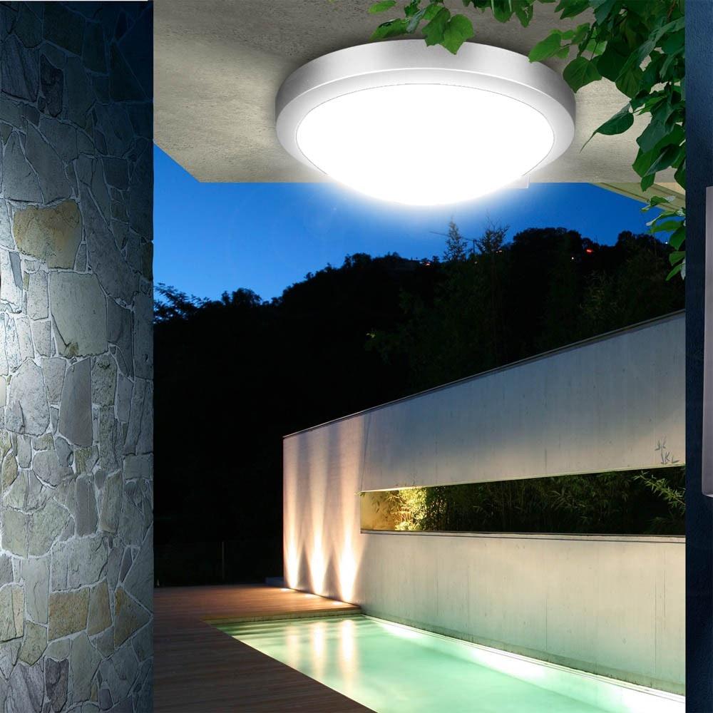 Acca LED-Deckenleuchte für Innen und Aussen Ø 27cm 1