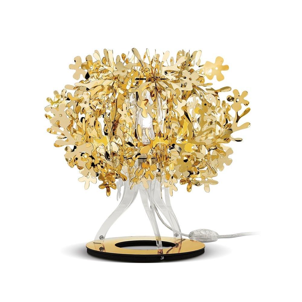 Slamp Tischlampe Fiorella 370lm 2800K Goldfarben 2