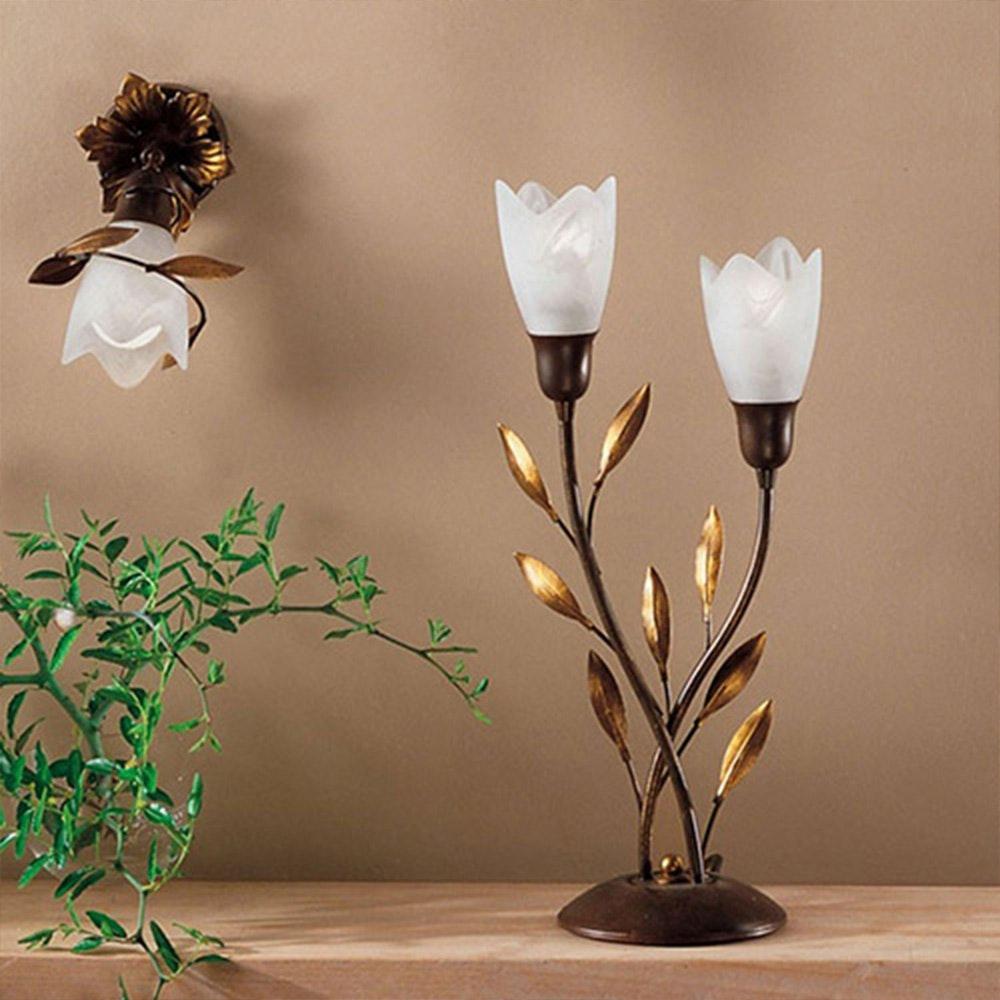 Tischleuchte Kögl zweiflammig floral