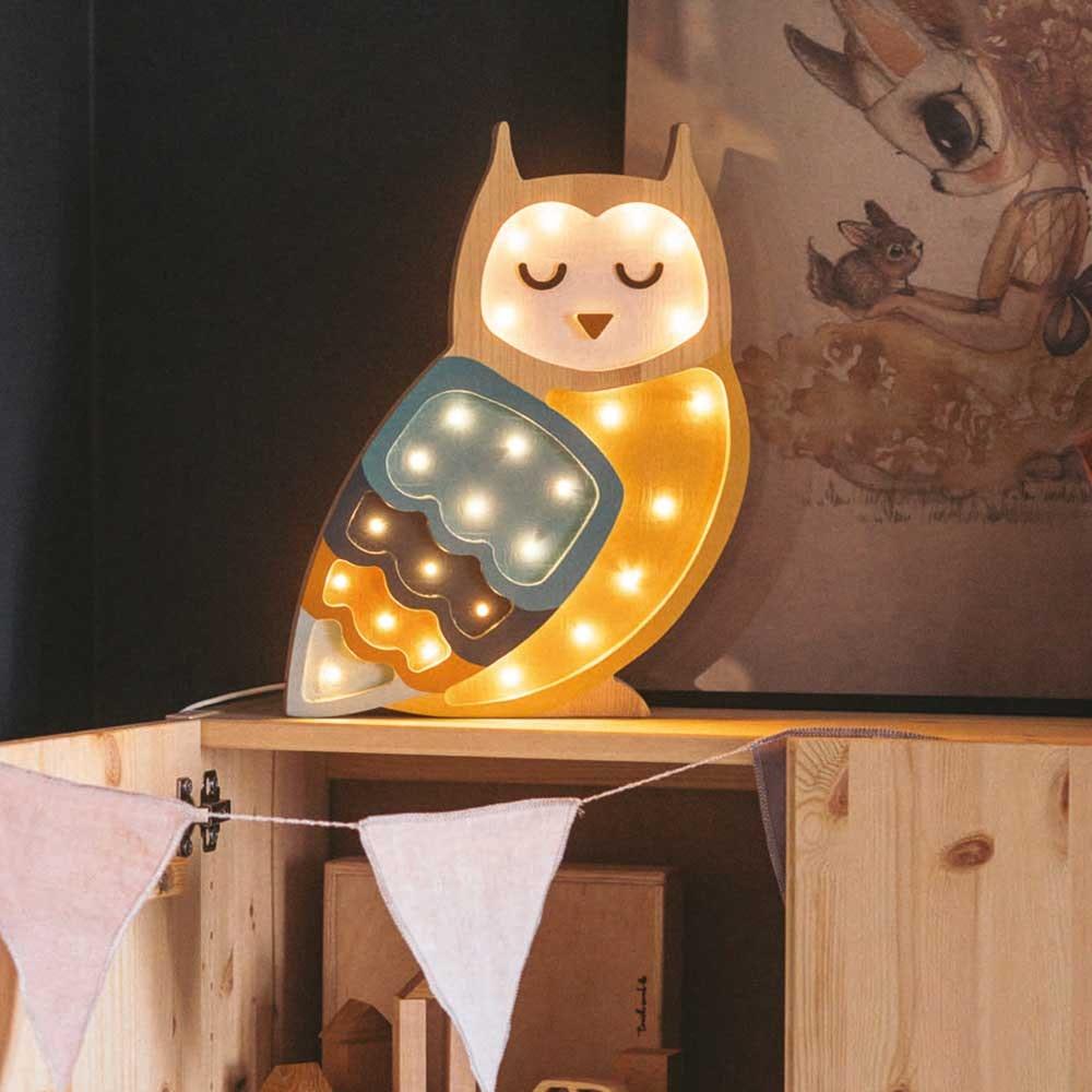 Little Lights Kinder Wand- & Tischleuchte Eule  1